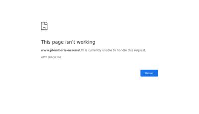 Capture d'écran du site de ARSENAL FLUIDES