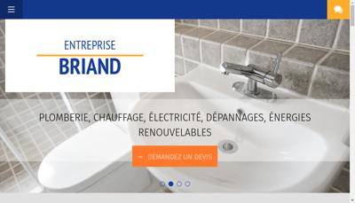 Capture d'écran du site de Entreprise Briand