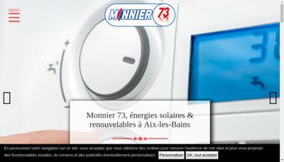 Capture d'écran du site de Monnier 73