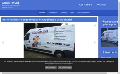 Site internet de Plomberie Chauffage David Gruel