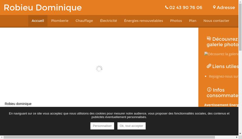 Capture d'écran du site de Dominique Robieu