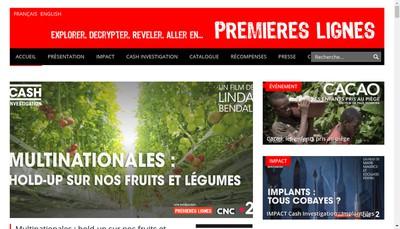 Site internet de Premieres Lignes Television