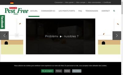 Site internet de Pest Free France
