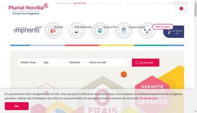 Site internet de Plurial Novilia