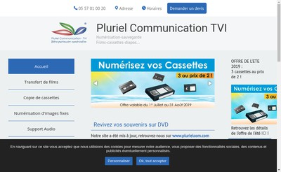 Site internet de Pluriel Communication - TVI