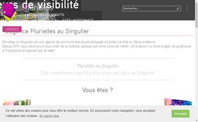 Site internet de Plurielles au Singulier
