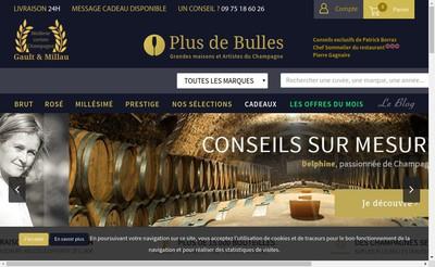 Site internet de Les Vins de Champagne Fr