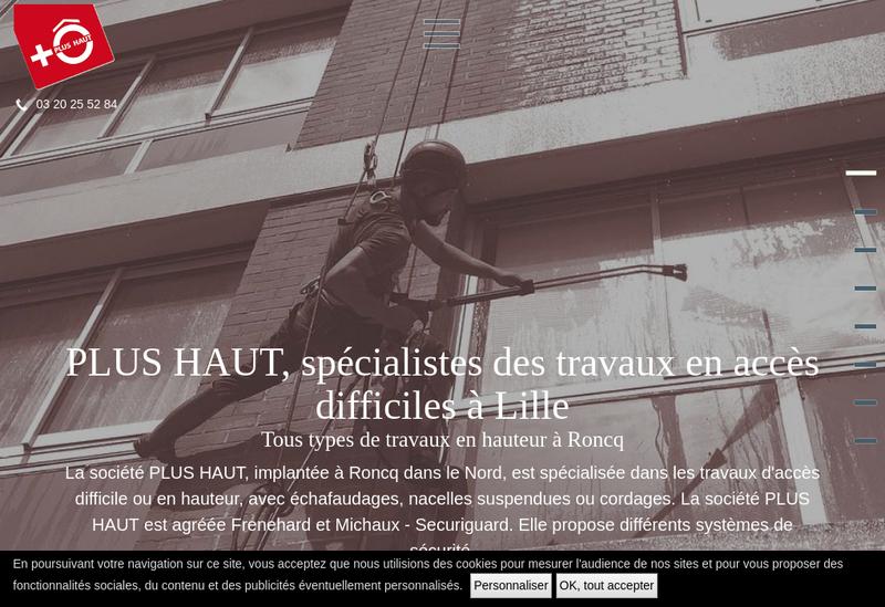 Capture d'écran du site de Plus Haut