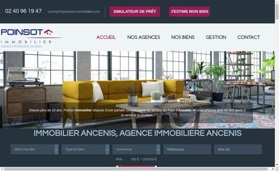 Site internet de Poinsot Immobilier