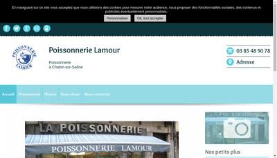 Site internet de Poissonnerie Lamour