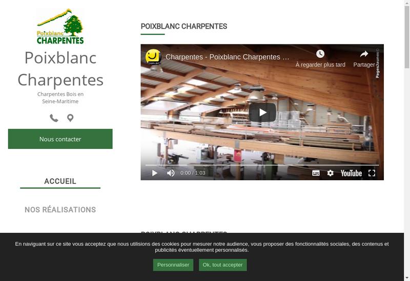 Capture d'écran du site de Poixblanc Charpentes