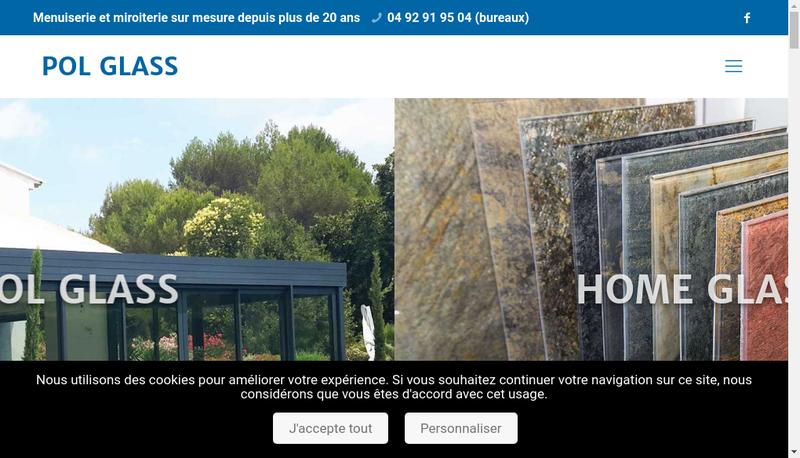 Capture d'écran du site de Pol-Glass