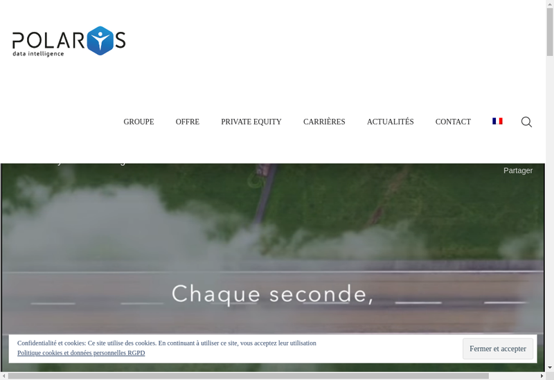 Capture d'écran du site de Polarys