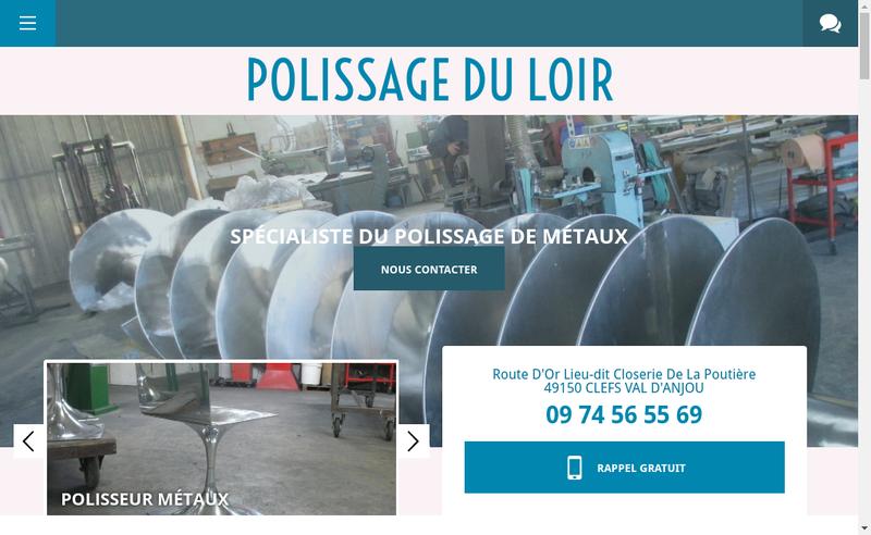 Capture d'écran du site de Polissage du Loir