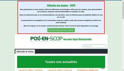 Site internet de Pollen Scop