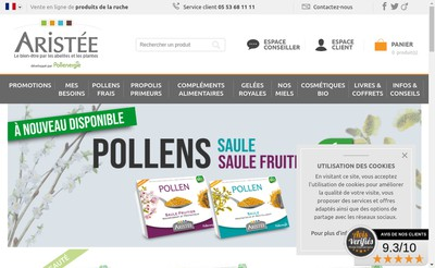 Site internet de Pollenergie