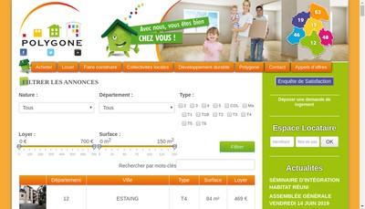 Site internet de Polygone Midi-Pyrenees