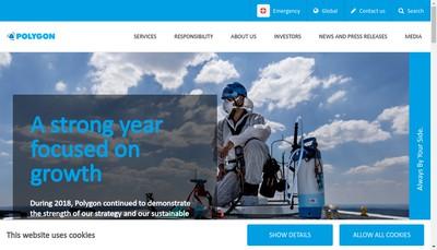 Site internet de Bretagne Assechement - Normandie Assistance - Maine Assechement - Polygon France
