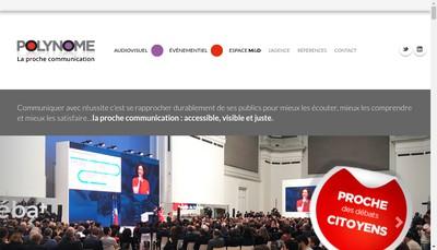 Site internet de Polynome Communication