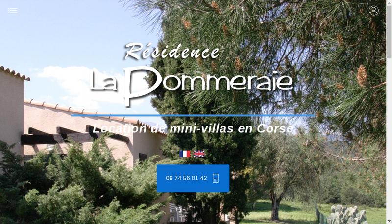 Capture d'écran du site de La Pommeraie Corse