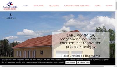 Site internet de SARL Pommier