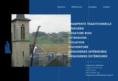 Capture d'écran du site de Pommier