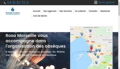 Site internet de Pompes Funebres Phoceennes
