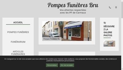 Site internet de Pompes Funebres Bru