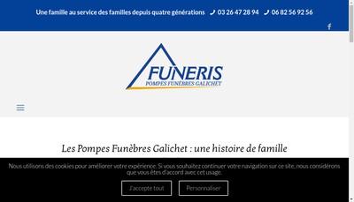 Site internet de Pompes Funebres Galichet