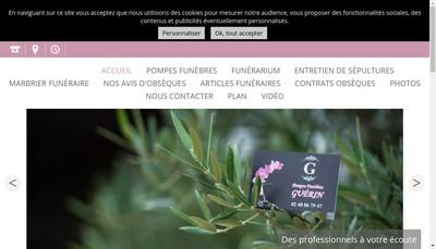 Site internet de Pompes Funebres Guerin