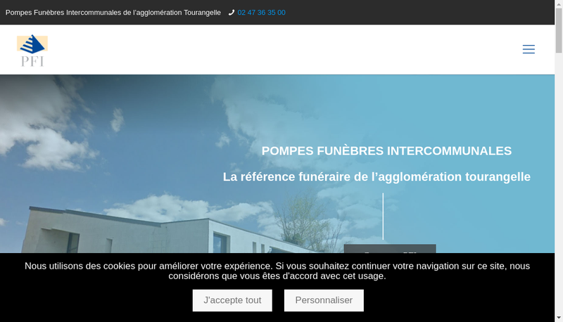 Capture d'écran du site de PFI