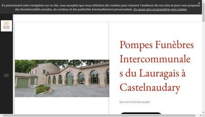Site internet de Pompes Funebres Intercommunales du Lauragais