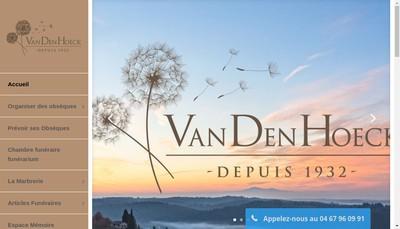Site internet de Vandenhoeck-Vigroux, la Clermontaise, Pompes Funebres Cler