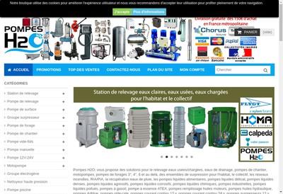 Site internet de Pompes H2O