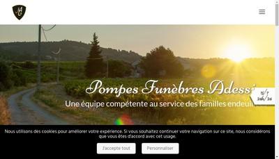 Site internet de Ambulances Caumontoises