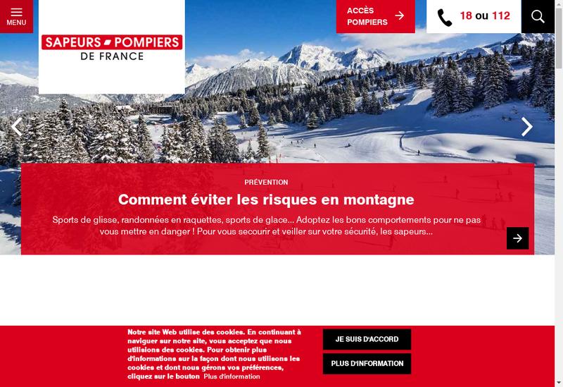Capture d'écran du site de Mutuelle Nal Sapeurs Pompiers France