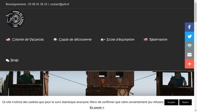 Site internet de Poneys des Quatre Saisons