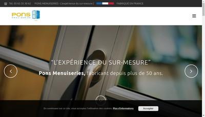 Site internet de Pons Menuiserie