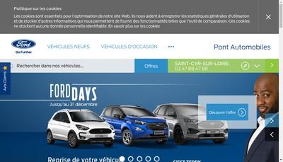Site internet de Pont Automobiles 41