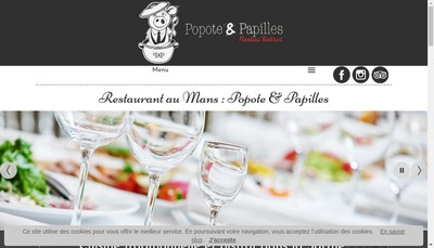 Site internet de Popote & Papilles
