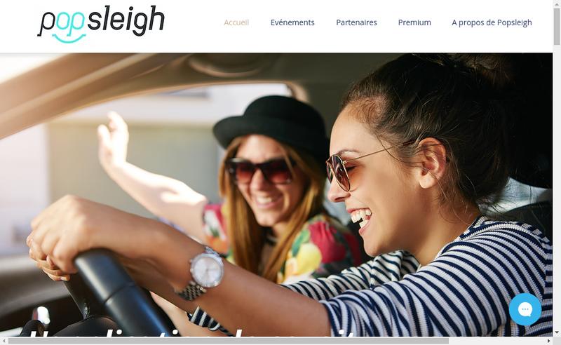 Capture d'écran du site de Popsleigh