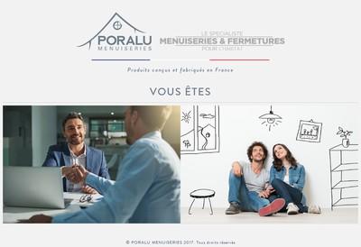 Site internet de Poralu Menuiseries