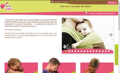 Site internet de Porter Son Enfant