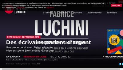 Site internet de Theatre de la Porte Saint Martin