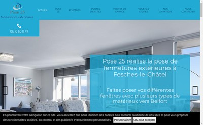 Site internet de SARL Pose 25