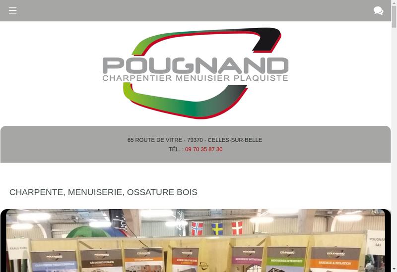 Capture d'écran du site de M Pougnand