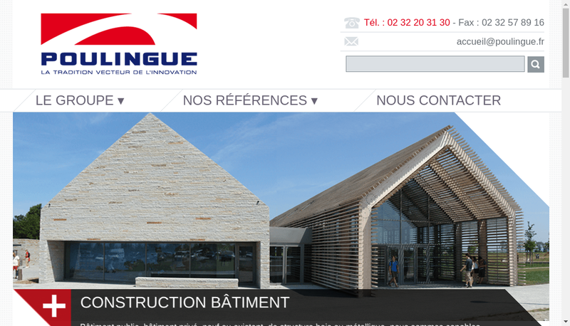 Capture d'écran du site de Etablissements Poulingue