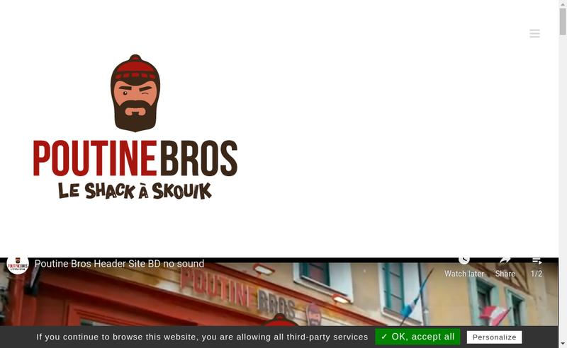 Capture d'écran du site de Poutinebros