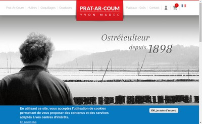 Site internet de Huitres de Prat Ar Coum