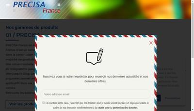Site internet de Precisa France SA